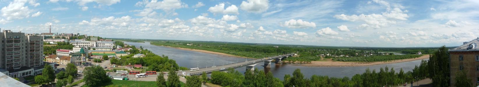 Обзорная панорама из здания КОГКУ  «ГАСПИ КО»